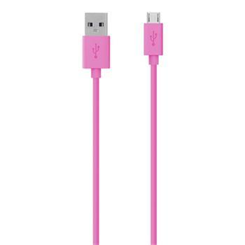 Belkin kabel MIXIT USB 2.0 A/microUSB, 2m - růžový