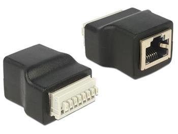 Delock adaptér RJ45 samice > Terminal Block 8 pin s tlačítkem