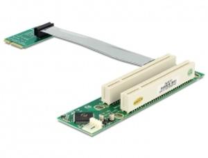 Delock Riser Card Mini PCI Express > 2 x PCI 32 Bit 5 V s flexibilním kabelem 13 cm vkládání vlevo