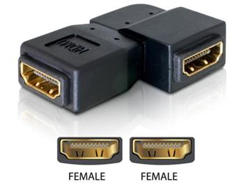 Delock adaptér HDMI samice > HDMI samice 90° vlevo