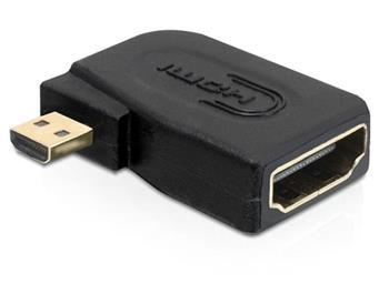 Delock Adaptér High Speed HDMI s Ethernetem - micro D samec > A samice pravoúhlý