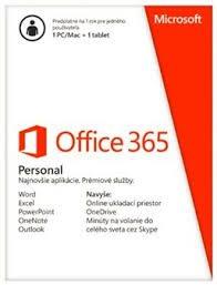 Office 365 Personal 32-bit/x64 Slovak - předplatné na 1 rok