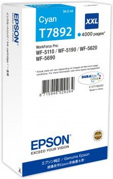 EPSON cartridge T7892 cyan (WorkForce5)