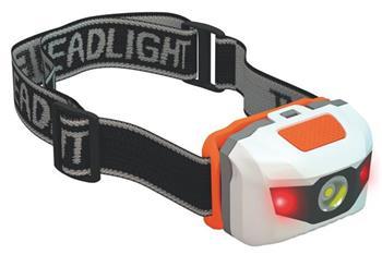 Emos LED svítilna čelovka P3521, 1W + 2 červené LED, 3x AAA