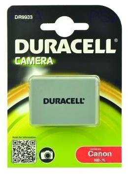 DURACELL Baterie - DR9933 pro Canon NB-7L, �ed�, 1000 mAh, 7.4V