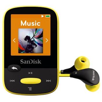 SanDisk Clip Sports 8 GB, FM rádio, MP3, WMA, microSDHC, žlutá