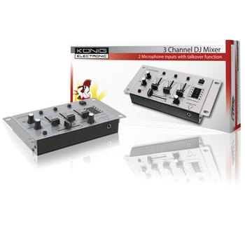 König KN-DJMIXER10 - 3-kanálový DJ mixážní pult