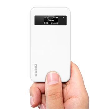 QNAP QGenie Mobile NAS, 600MHz, 64MB RAM, 32GB_SSD, Wifi, LAN, USB 3.0, SD