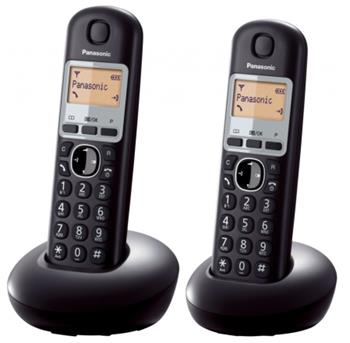 Panasonic KX-TGB212FXB, bezdrát. telefon, 2 sluchátka, černý