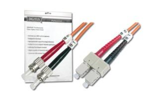 DIGITUS Fiber Optic Patch Cord, ST to SC, Multimode 50/125 µ, Duplex, Length 2m