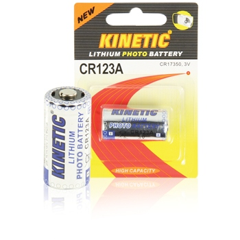 CR123A Kinetic - 3V/1200mAh, lithiová, 1 ks