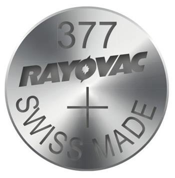 Rayovac 377 (SR626SW, 6.8 x 2.66 mm) - 10 ks, krabička