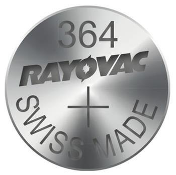 Rayovac 364 (SR621SW, 6.8 x 2.15 mm) - 10 ks, krabička