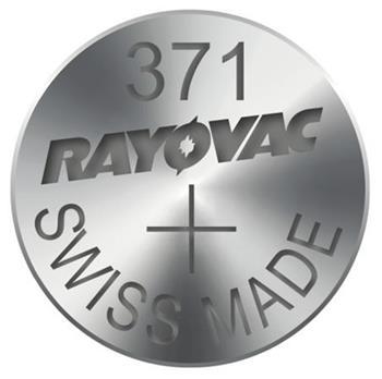 Rayovac 371 (SR920SW, 9.5 x 2.05 mm) - 10 ks, krabička