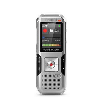 Philips digitální záznamník DVT4000 - 4GB, USB, microSDHC až 32GB, barevný displej, li-pol baterie