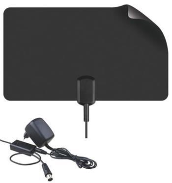 Emos anténa EM-9023 - tenká pokojová anténa pro DVB-T/T2, aktivní, LTE filtr,