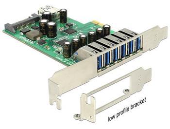 Delock PCI Express Karta > 6 x externí + 1 x interní USB 3.0