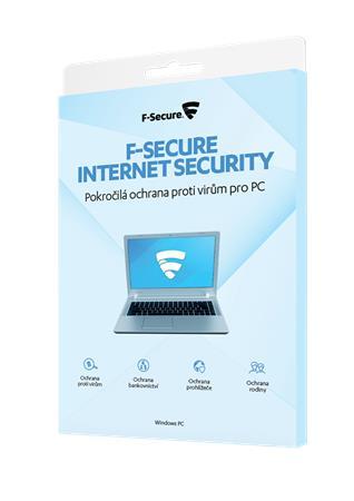F-Secure Internet Security na 1 rok pro 3 uživ., CZ - elektronicky