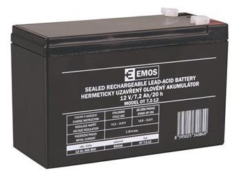 Emos baterie SLA 12V / 7.2 Ah, Faston 4.8 (187)