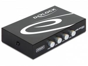 Delock Switch USB 2.0 4-portový, manuální