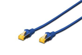 Digitus CAT 6A S-FTP patch cable, LSOH, Cu, AWG 26/7, Length 0.5m, color blue
