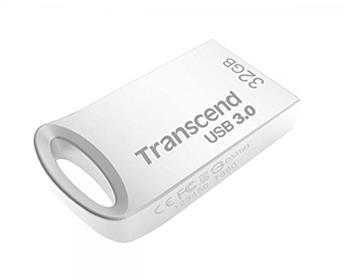 Transcend 32GB JetFlash 710S, USB 3.0 flash disk, malé rozměry, stříbrný kov
