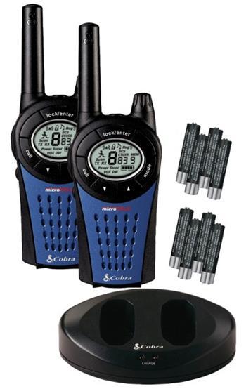 Cobra MT975 - profi PMR vysílačka - 2 ks, včetně nabíječky a baterií