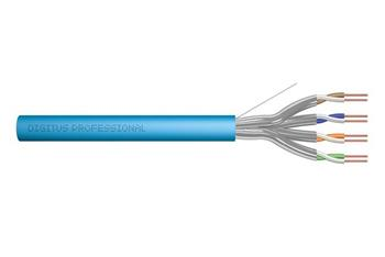 DIGITUS CAT 6A U-FTP installation cable, raw, length 100 m, paper box, AWG 23/1, LSZH-1, simplex, color blue