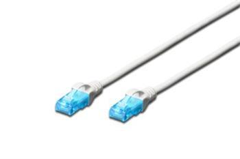 Digitus Ecoline Patch Cable, UTP, CAT 5e, AWG 26/7, bílý 1m, 1ks