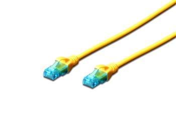 Digitus Ecoline Patch Cable, UTP, CAT 5e, AWG 26/7, žlutý 1m, 1ks