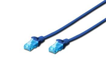 Digitus Ecoline Patch Cable, UTP, CAT 5e, AWG 26/7, modrý 1m, 1ks