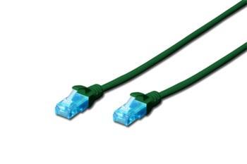 Digitus Ecoline Patch Cable, UTP, CAT 5e, AWG 26/7, zelený 7m, 1ks