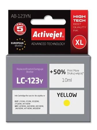 ActiveJet ink Brother LC123 / LC125 Yellow AB-123YN 10 ml