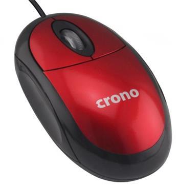 Crono OP-640 optická myš, červená, USB , DPI 1000