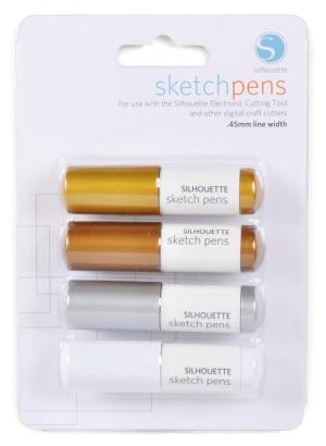 Silhouette - Sketch pen 4ks metalické barvy