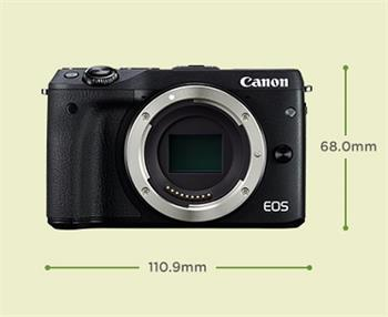 Canon EOS M3 Black + EFM 18-55mm , bezzrcadlovka, 24 MP, DIGIC 6