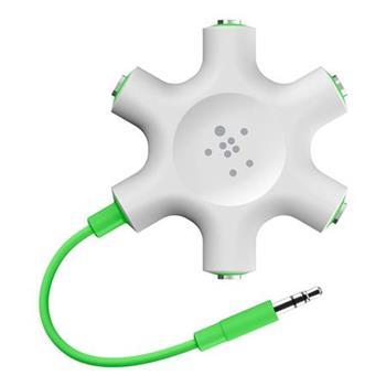 Belkin RockStar rozbočovací adaptér 5 portů 3.5 jack pro připojení sluchátek - bílý