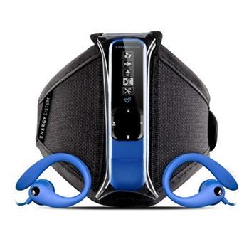 ENERGY Active 2 Neon Blue 8GB, MP3 sportovní přehrávač, FM, USB, sluchátka, sportovní pouzdro na ruku