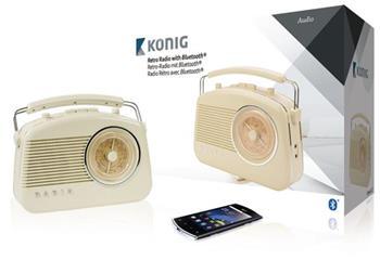 König HAV-TR800BE - Retro rádio s bezdrátovou technologií Bluetooth