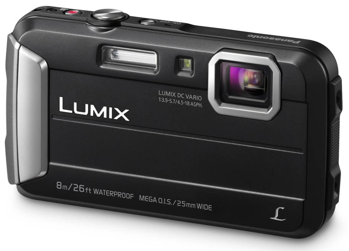 Panasonic DMC-FT30EP-K, 16Mpx, 4x zoom 25mm OIS, HD, vodotěsný 8m, černý