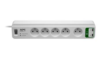 APC Essential SurgeArrest 5 outlets with 5V, 2.4A 2 port USB Charger 230V Czech
