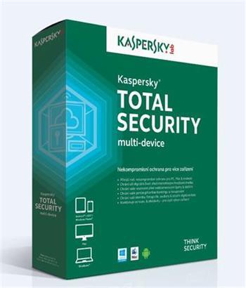 Kaspersky Total Security multi-device CZ, 1 zařízení, 2 roky, obnovení licence, elektronicky