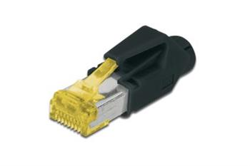 Digitus CAT 6A modular RJ45 Plug, Hirose TM31, 8P8C, shielded, for round cable, incl. hood 1pcs