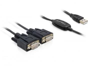 Delock Adaptér USB 2.0 > 2 x Sériový