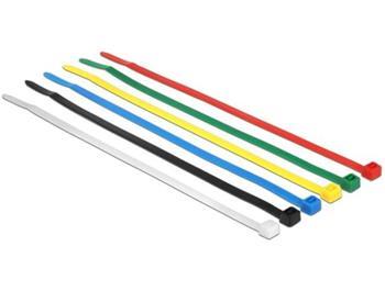 Delock Stahovací pásky barevné D 200 x Š 3,6 mm 100 ks