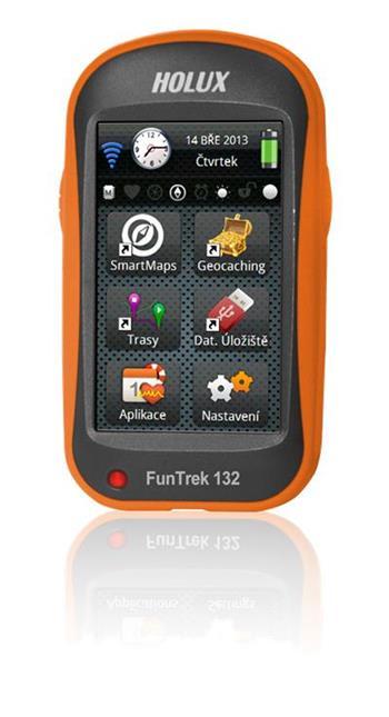 """HOLUX Funtrek 132 CZ/SK + TM CZ 25 + Evropa, cyklo-computer,outdoor, 3"""" dotykový displej, GPS,4GB, microSDHC"""