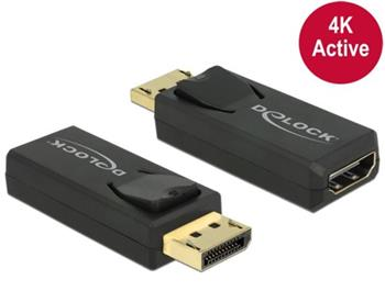 Delock adaptér Displayport 1.2 samec > HDMI samice 4K pasivní černý