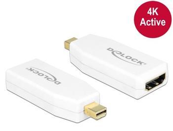 Delock adaptér mini Displayport 1.2 samec > HDMI samice 4K aktivní bílý