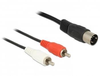 Delock Cable DIN 5 pin male > 2 x RCA male 1.5 m