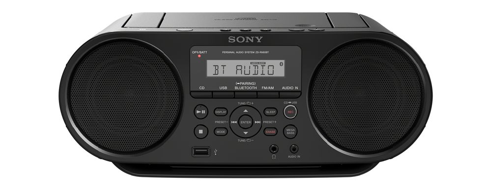 SONY ZS-RS60BT Přehrávač CD Boombox s technologií Bluetooth®